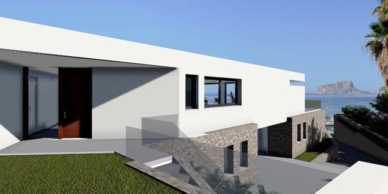 Modern new build luxury villa with sea views in Moraira Pla del Mar - Sea views - ID: 5500656