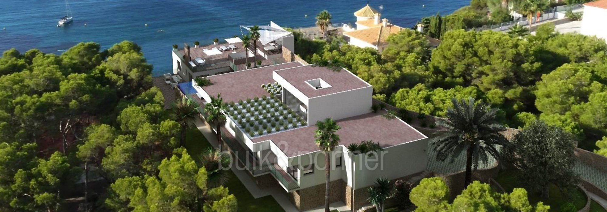 New build sea front luxury villa in Moraira