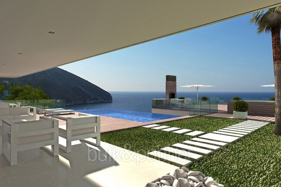 New build sea front luxury villa moraira el portet costa - Villa el portet ...