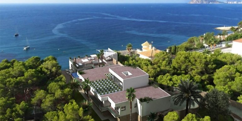 New build sea front luxuy villa in Moraira El Portet – Sea views – ID: 5500657