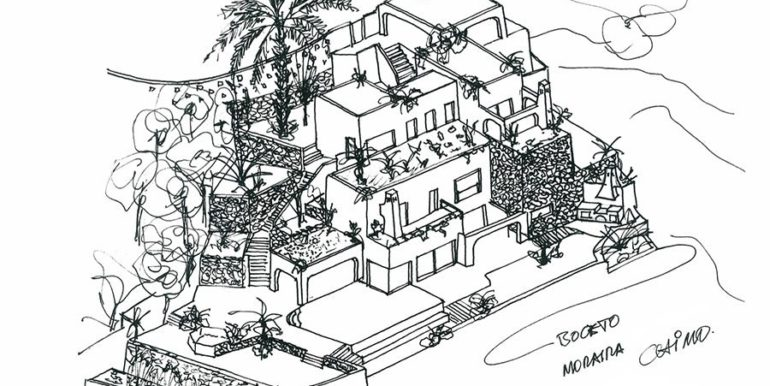 New ibizan style luxury villa in Moraira El Portet – Sketch – Architect  Joaquín Lloret – ID 5500011