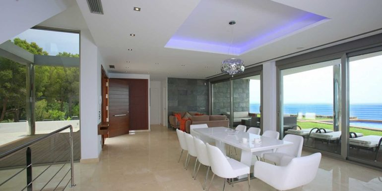 Exclusive first line luxury villa in Altéa Campomanes - Dining area with sea views - ID: 5500659 - Architect David Montés López