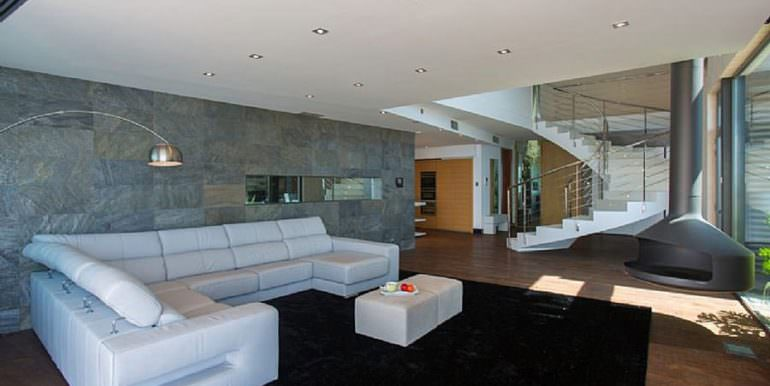 Modern luxury design villa Benidorm Sierra Dorada - Livingroom with fireplace - ID: 5500052