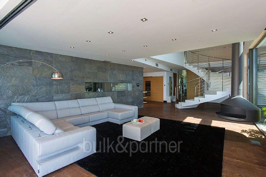 ... Moderne Design Villa In Benidorm Sierra Dorada   Wohnzimmer Mit Kamin    ID: 5500052 ...