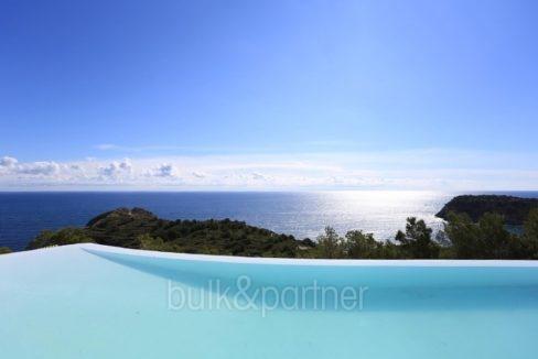 Prächtige Villa mit außergewöhnlichem Meerblick in Jávea Portichol - Pool mit Meerblick - ID: 5500662