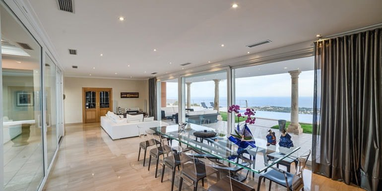 Luxury property with breathtaking sea views in Moraira Coma de los Frailes - Dinning area with sea views - ID: 5500661