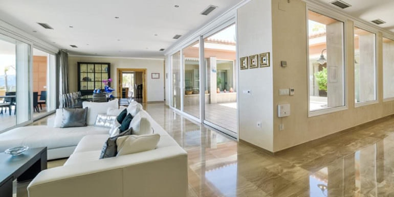 Luxury property with breathtaking sea views in Moraira Coma de los Frailes - Living area - ID: 5500661