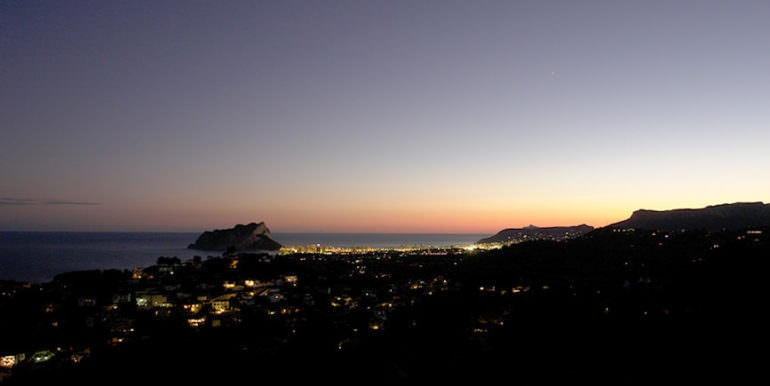 Luxury property with breathtaking sea views in Moraira Coma de los Frailes - Sea views by night - ID: 5500661