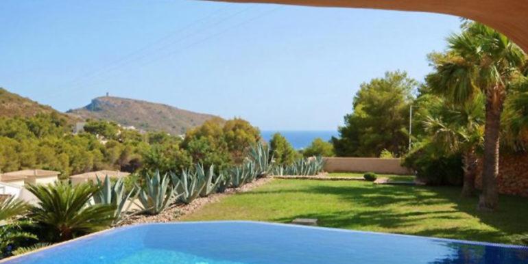 Ibiza style villa with sea views in Moraira El Portet - Sea views - ID: 5500022