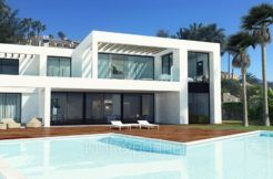 New luxury villa in sea front in Benissa Les Bassetes - Pool terrace - ID: 5500664