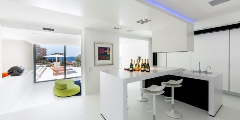 New villa in minimalist style with sea views in Moraira El Portet - American kitchen - ID: 5500633 - Photographer: Michael van Oosten