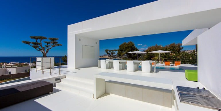 New villa in minimalist style with sea views in Moraira El Portet - BBQ and outside dinning area - ID: 5500633 - Photographer: Michael van Oosten