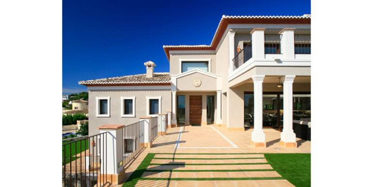 Unique luxury villa in exposed location in Moraira Paichi - Entrance - ID: 5500660
