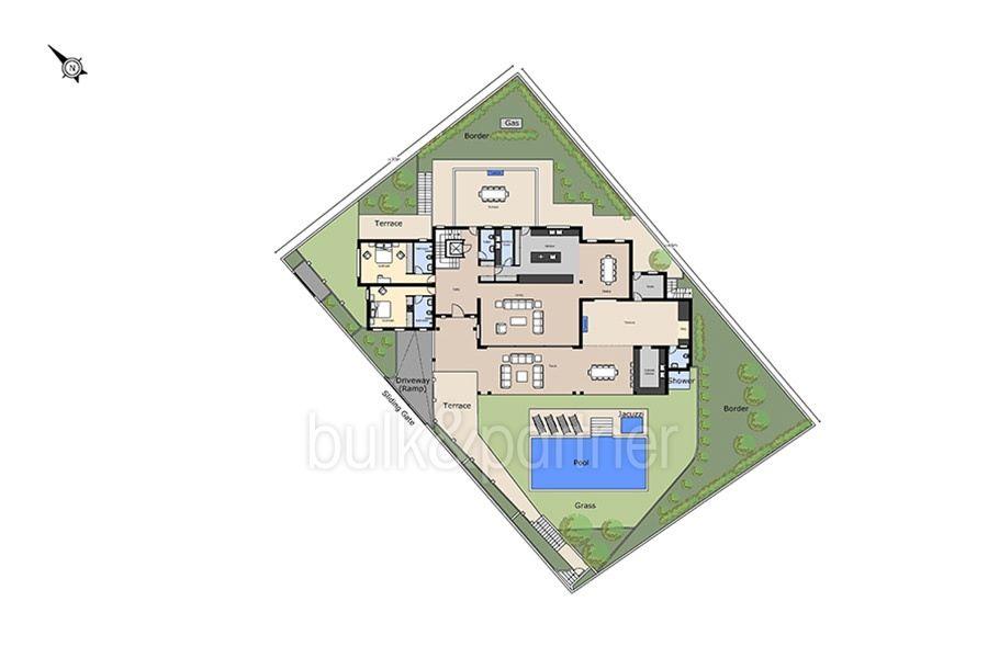 Unique luxury villa in exposed location in Moraira Paichi - Floor plan infrastructure - ID: 5500660