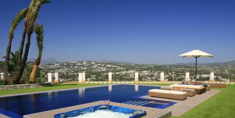 Unique luxury villa in exposed location in Moraira Paichi - Pool panorama view - ID: 5500660