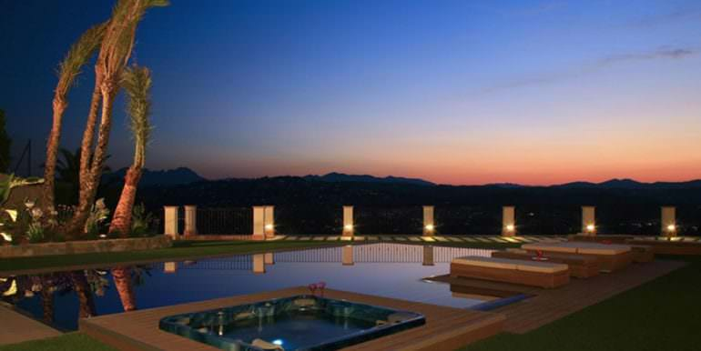 Unique luxury villa in exposed location in Moraira Paichi - Sunset from the pool - ID: 5500660