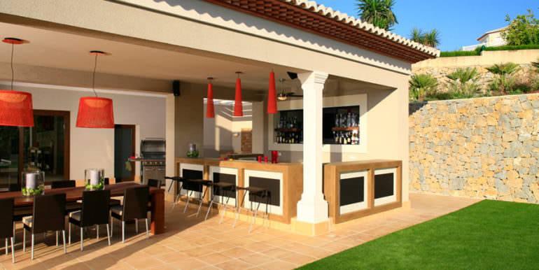 Unique luxury villa in exposed location in Moraira Paichi - Terrace and bar - ID: 5500660
