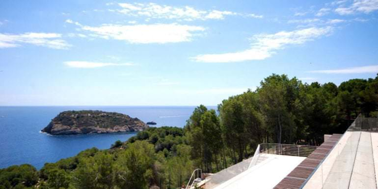 Gorgeous villa with exceptional sea views in Jávea Portichol - Terrace top floor with sea views - ID: 5500662