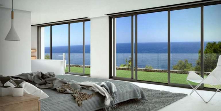 Luxus Immobilie in erster Meeresline in Jávea Ambolo - Schlafzimmer mit Meerblick - ID: 5500672 - Architekt POM Architectos