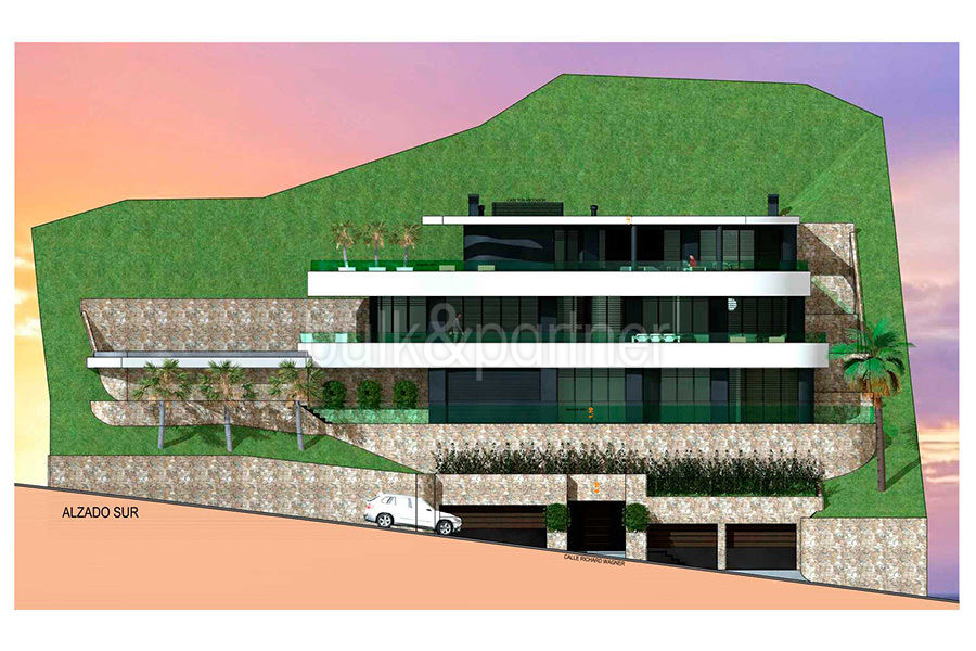 Luxury property on the seafront in Jávea Ambolo - Floor plan front view - ID: 5500672 - Architect POM Architectos