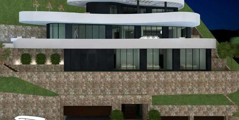 Luxus Immobilie in erster Meeresline in Jávea Ambolo - Front in der Gesamtansicht - ID: 5500672 - Architekt POM Architectos
