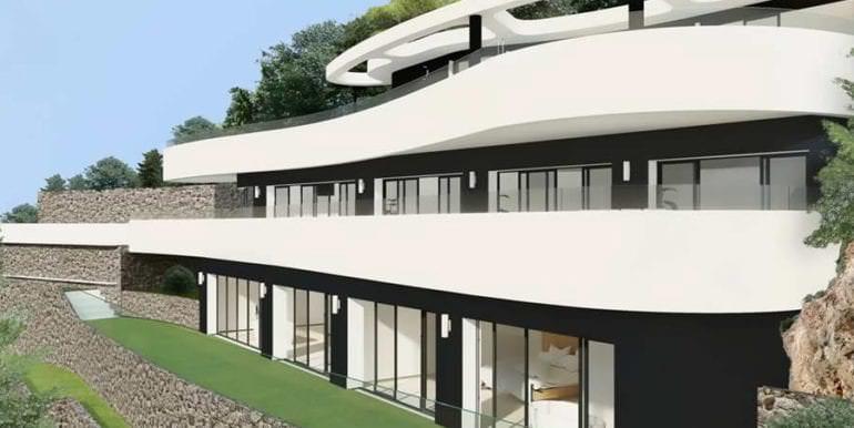 Luxus Immobilie in erster Meeresline in Jávea Ambolo - Seitenansicht gesamt - ID: 5500672 - Architekt POM Architectos