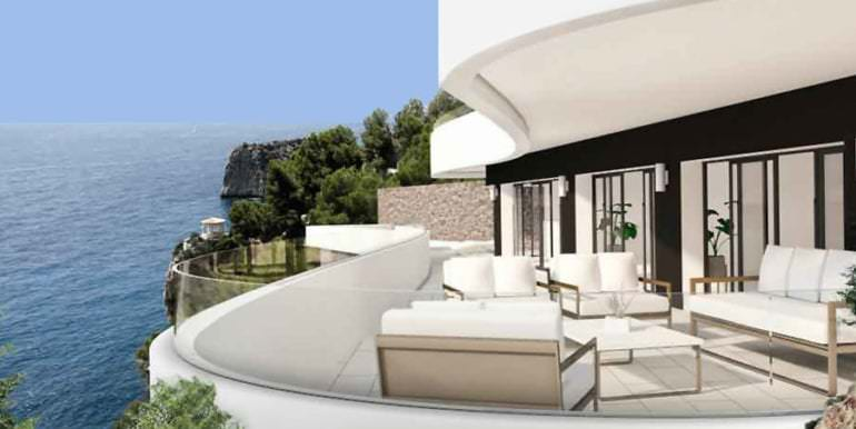 Luxury property on the seafront in Jávea Ambolo - Terrace with sea views - ID: 5500672 - Architect POM Architectos