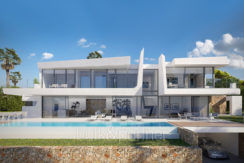 Luxury villa with beautiful sea views in Moraira Benimeit - Front and pool terrace - ID: 5500671 - Architect Ramón Gandia Brull