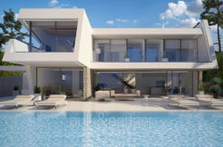 Luxury villa with perfect sea views in Moraira Benimeit - Front and pool terrace - ID: 5500670 - Architect Ramón Gandia Brull