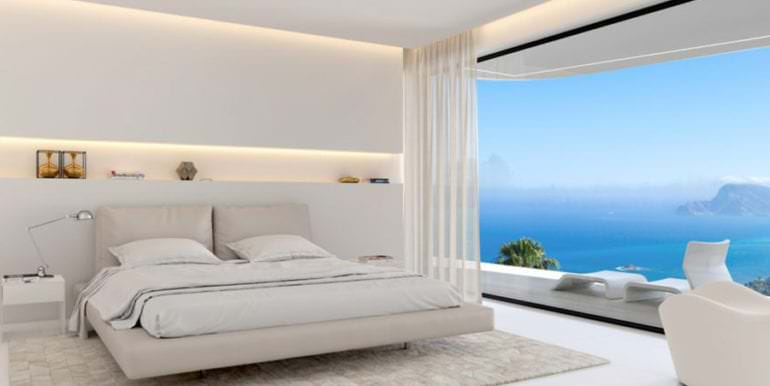 Luxury villa with stunning sea views in Altéa Hills - Bedroom with incredible sea views - ID: 5500669 - Architect Ramón Gandia Brull