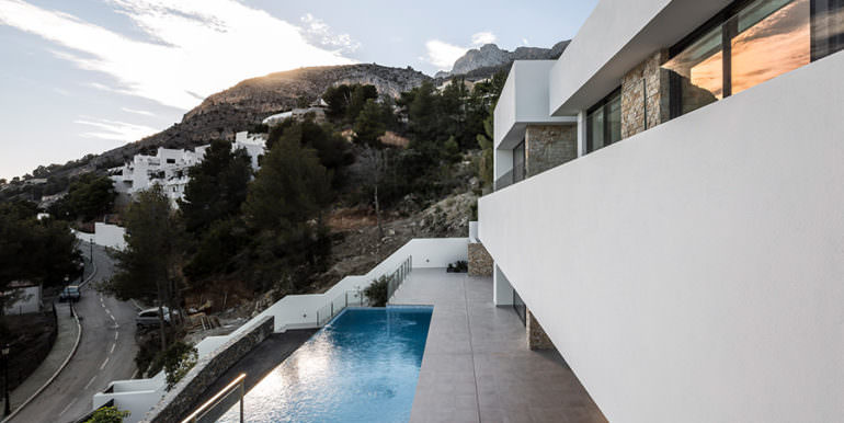 Modern luxury villa with sea views in Altéa Hills - Pool terrace - ID: 5500676 - Architecture by Pepe Giner - Photographer Germán Cabo