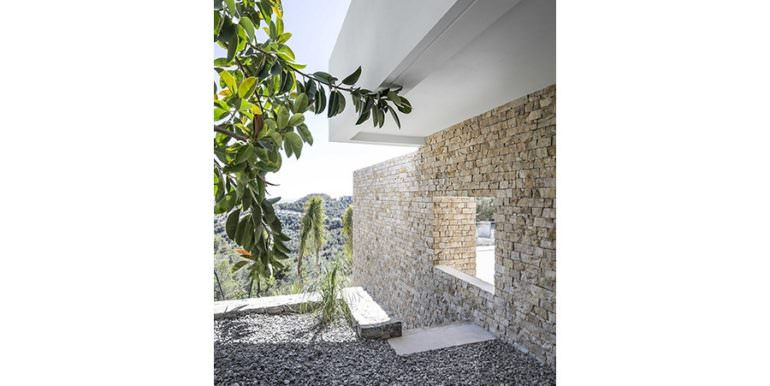 Modern luxury villa with sea views in Altéa Hills - Natural stone wall - ID: 5500676 - Architecture by Pepe Giner - Photographer Germán Cabo