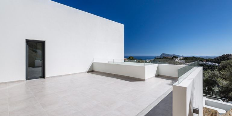 Modern luxury villa with sea views in Altéa Hills - Terrace with sea views - ID: 5500676 - Architecture by Pepe Giner - Photographer Germán Cabo