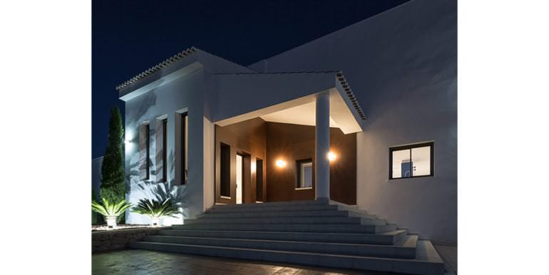 Newly-built villa in the most exclusive area in Moraira Cap Blanc - Entrance illuminated - ID: 5500665 - Photographer: Germán Cabo