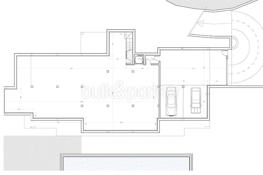 Newly-built luxury villa in the most exclusive area in Moraira Cap Blanc - Floor plan basement - ID: 5500665