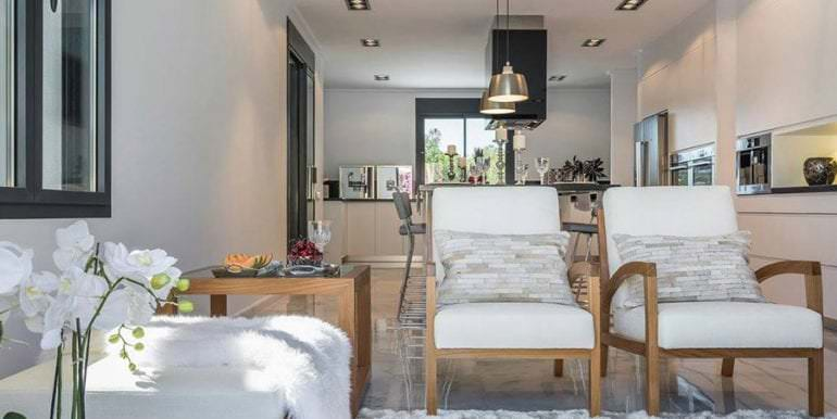 Newly-built villa in the most exclusive area in Moraira Cap Blanc - Living area and American kitchen - ID: 5500665 - Photographer: Germán Cabo