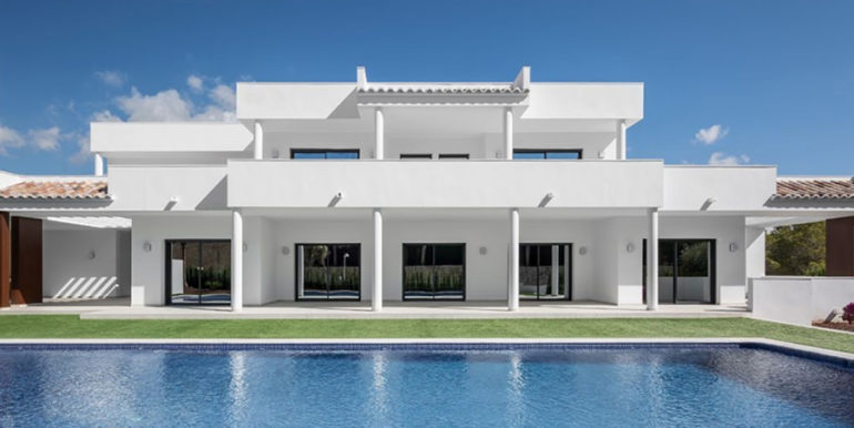 Newly-built villa in the most exclusive area in Moraira Cap Blanc - Pool and Villa - ID: 5500665 - Photographer: Germán Cabo