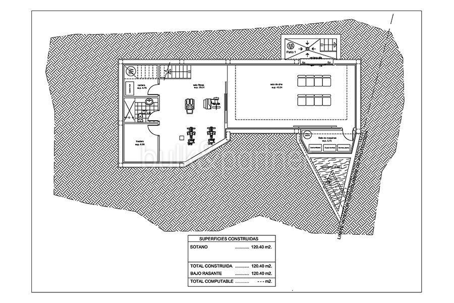 Seafront luxury villa in Benissa Cala Advocat - Floor plan basement - ID: 5500677