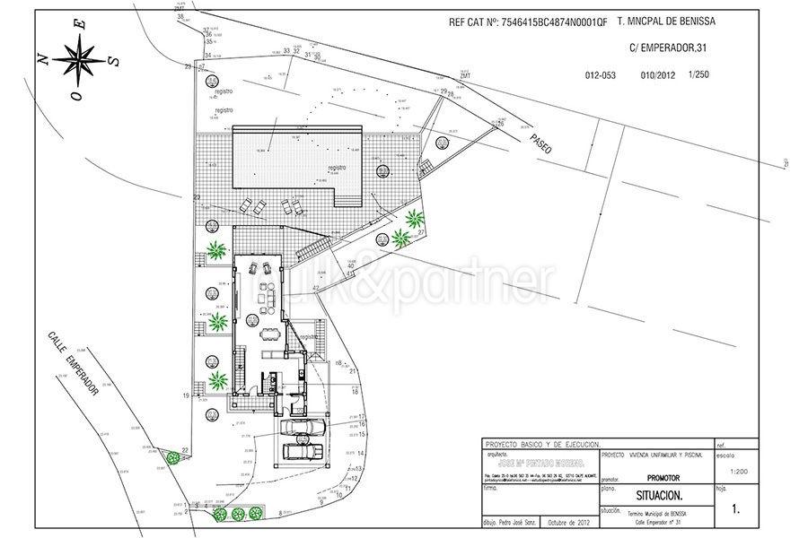 Seafront luxury villa in Benissa Cala Advocat - Floor plan infrastructures - ID: 5500677