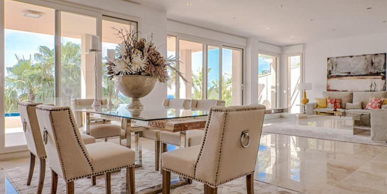Wonderful new villa with stunning sea views in Moraira San Jaime/Moravit - Dining and living area - ID: 5500675