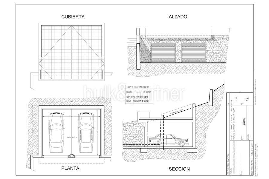 Wonderful new villa with stunning sea views in Moraira San Jaime/Moravit - Floor plan garage - ID: 5500675