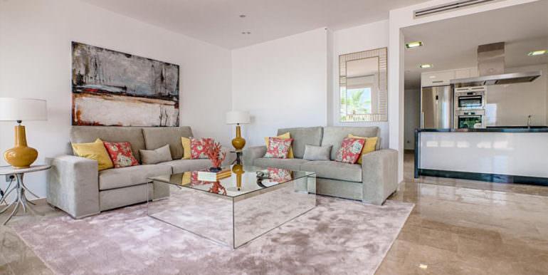 Wonderful new villa with stunning sea views in Moraira San Jaime/Moravit - Living area and American kitchen - ID: 5500675