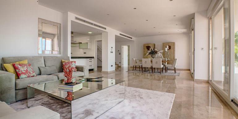 Wonderful new villa with stunning sea views in Moraira San Jaime/Moravit - Living and dining area - ID: 5500675