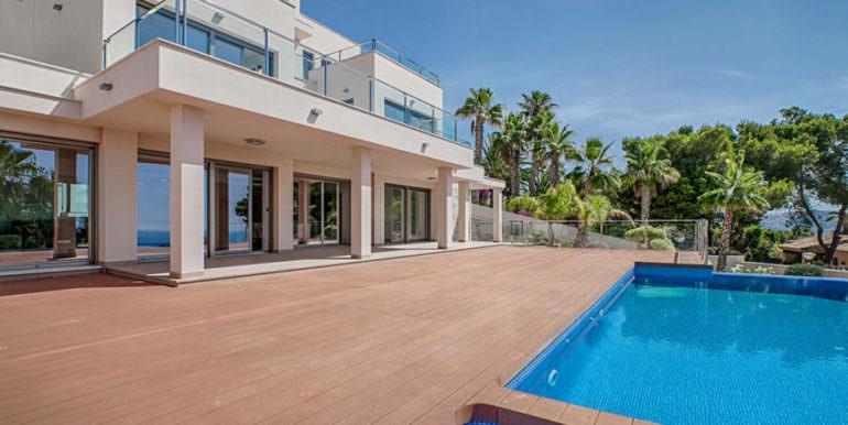 Wonderful new villa with stunning sea views in Moraira San Jaime/Moravit - Pool terrace and covered terrace- ID: 5500675