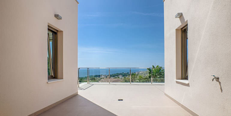 Wonderful new villa with stunning sea views in Moraira San Jaime/Moravit - Terrace first floor with sea views - ID: 5500675