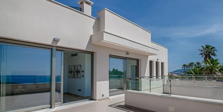 Wonderful new villa with stunning sea views in Moraira San Jaime/Moravit - Terrace top floor - ID: 5500675