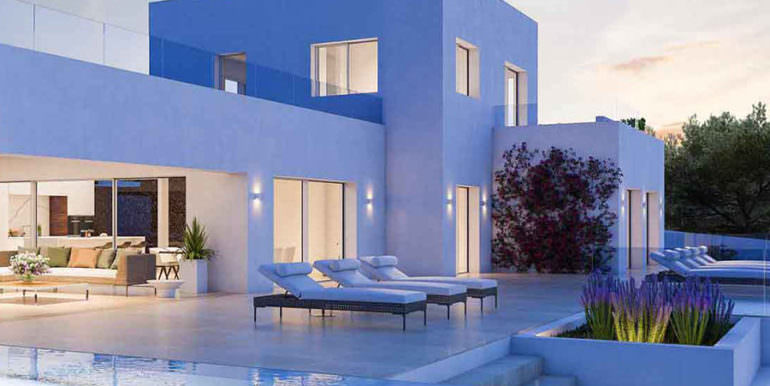 First line ibizan style luxury villa in Jávea Balcón al Mar - Covered terrace - ID: 5500678