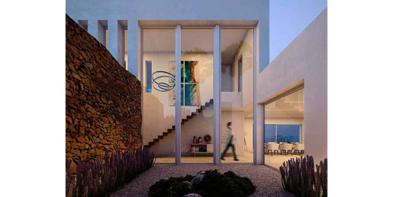 First line ibizan style luxury villa in Jávea Balcón al Mar - Entrance hall - ID: 5500678