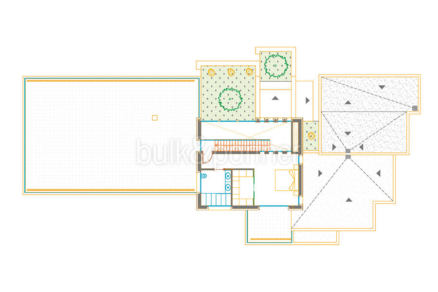 First line ibizan style luxury villa in Jávea Balcón al Mar - Floor plan top floor - ID: 5500678