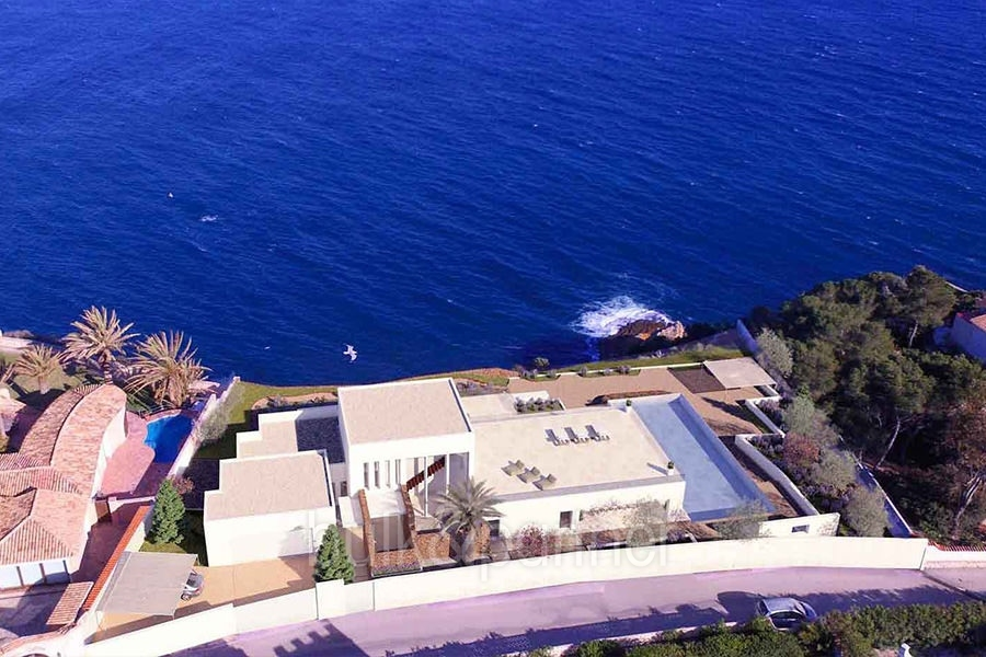 First line ibizan style luxury villa in Jávea